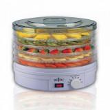 Deshidator uscator de legume, fructe si mirodenii SAPIR SP 1451 A5, 250W, 35°C-70°C, 5 trepte, Potrivit si pentru carne