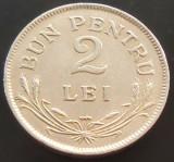 Moneda (BUN PENTRU) 2 LEI - ROMANIA, anul 1924   *cod 299  POISSY