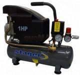 Compresor de aer Stager HM1010K, 6 L, 8 BAR
