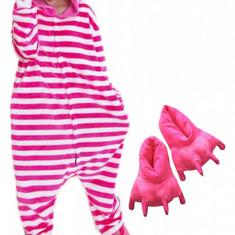PJM91-552 Set pijama kigurumi + papuci de casa, M