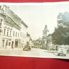 Ilustrata Orasul Stalin - Str.Gh.Baritiu circulat 1957