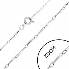 Lanț oțel inoxidabil - zale geometrice înclinate