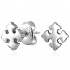 Cercei din oțel cu șurub - Cruce Bottony