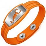 Brățară din cauciuc, stil ceas, plăcuță cu scorpion