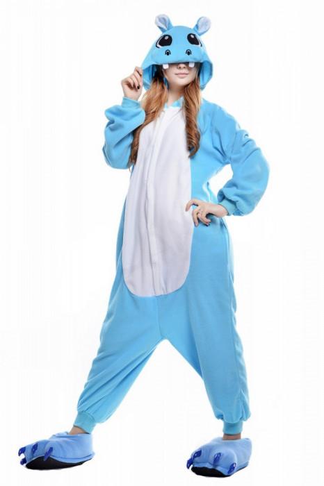 PJM50 Pijama intreaga kigurumi, cu model hipopotam