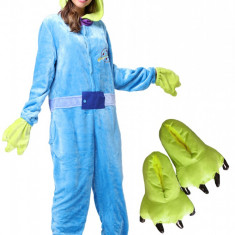PJM94-412 Set pijama kigurumi + papuci de casa, M, S/M