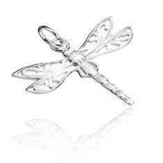 Pandantiv argint 925 - libelulă cu aripi filigran