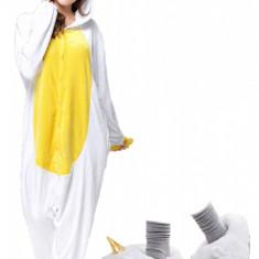 PJM85-29 Set pijama kigurumi + papuci de casa, M, S/M