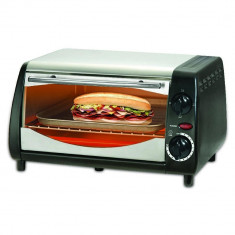 Aparat de sandwichuri - cuptor SAPIR SP 1441 NSB, 600W, 10 litri, Timer, Negru/Argintiu