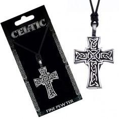 Colier din șnur - cruce neagră celtică