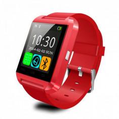 Ceas SW SmartWatch U8, Touchscreen, Bluetooth, Apelurim Rosu
