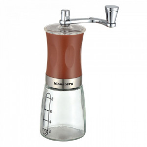 Rasnita mecanica pentru Cafea Klausberg KB 7176, 8 cesti, Reglare, Sticla, Maro