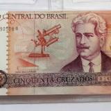 Bacnota 50 Cinquenta Cruzados - Brazilia 1989