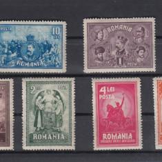 ROMANIA 1929  LP 82 - 10  ANI  DE LA UNIREA TRANSILVANIEI  SERIE MNH