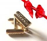 Butoni eleganti camasa barbati -placati cu aur 18k  -GRAVAT