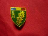 Insigna FRR - Federatia Romana Rughby , metal si email , h=1,8cm