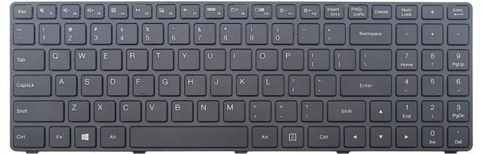 Tastatura laptop noua LENOVO Ideapad 100-15IBD Black Frame Black WIN8 US OEM
