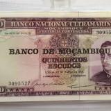 Bacnota 500 Quinhentos Escudos  - Mozambique 1967