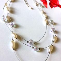 MEGA REDUCERE- Colier superb MARTISOR-lantisor,margele,perle cultura