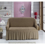 Husa canapea cu 2 Locuri, bej inchis