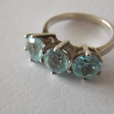Inel aur 9CT cu aquamarine -2982, 9K