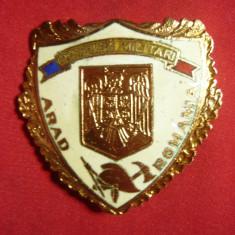 Insigna Pompieri Militari - Arad , metal si email , h=4,6cm