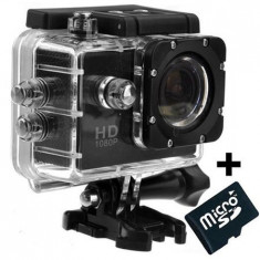 Camera Sport iUni Dare 50i HD 1080P, 12M, Waterproof, Negru + Card MicroSD 8GB