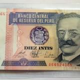 Bancnota 10 intis 1987 - Peru