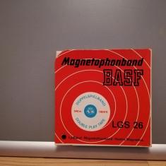Benda Magnetofon BASF LGS 26 in cutie (de Colectie) - 15 cm- stare F.B./RFG