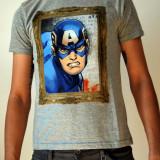 Tricou OVS Marvel Captain America - S - NOU, Gri