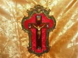 Crucifix in rama bronz dore, sec 19-20, Baroc Victorian, unicat