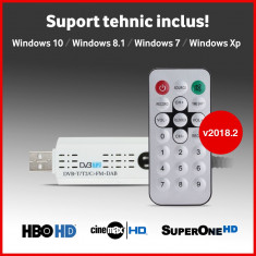 Tuner TV Digital USB - v2018.2 - HBO HD - DVB-C DVBC T2 - suport tehnic