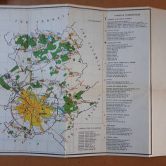 București Hartă turistică 1985, împrejurimile și centrul