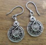 Cercei zamac argintat - inspiratie celtica