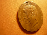 Medalie 40 Ani Domnie Carol I 1906 bronz , h= 3,8cm