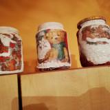 Vând borcane decorative cu tematica de sărbători