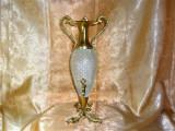 Cumpara ieftin Carafa decantor tarie, bronz dore cristal presat, stil Baroc Venetian