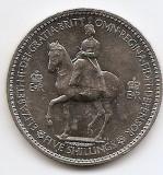 Marea Britanie 5 Shillings 1953 - Elizabeth II (Coronation) 38.61 mm KM-894