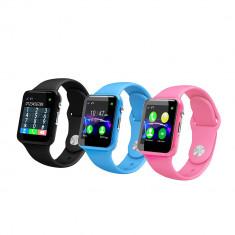 Smartwatch pentru copii cu GPS, SIM, Camera, Touchscreen; kids watch, Otel inoxidabil