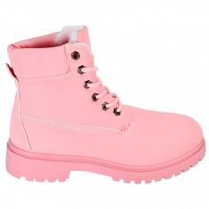 Bocanci sport de dama MBrands roz imblaniti, 36 - 41, Din imagine, Piele sintetica