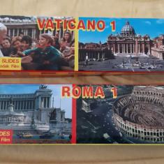 DIAPOZITIVE VATICAN SI ROMA  , 120 BUCATI , SUNT SUPERBE !