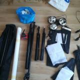 Kit studio foto - stativ lampi, lampi, softbox, stativ fundal, boom stand