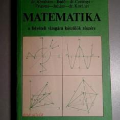 Matematika (l. maghiara)- Abraham, Bedo, Czetenyi, Frigyesi, Juhasz, Koranyi