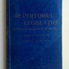 Repertoriul legislatiei R. S. R. in vigoare la 1 ianuarie 1989 - Legi si decrete