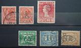 Lot de timbre Perfin, Stampilat