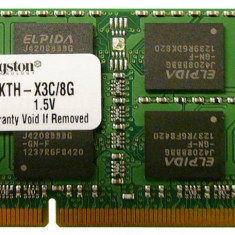 Memorii Laptop SODIMM Kingston 8GB DDR3 PC3-12800S 1600Mhz, 8 GB, 1600 mhz