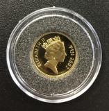 Fiji, 10  dolari 2002 comemorativa, aur 1,2442 g, .999, Australia si Oceania