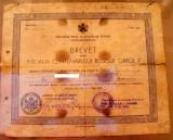Brevet  Medalia  centenarul     regelui   Carol  I