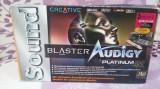 SISTEM DE SUNET CREATIVE SOUNDBLASTER AUDIGY PLATINUM EX IMPECABIL LA CUTIE, PCI