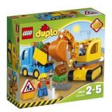 LEGO DUPLO, Camion si excavator pe senile 10812